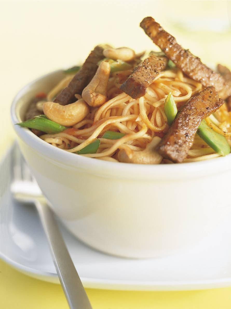Vietnamese noedels met rosbief