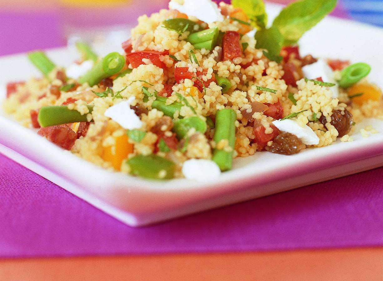 Pittige couscous met chorizo en sperziebonen