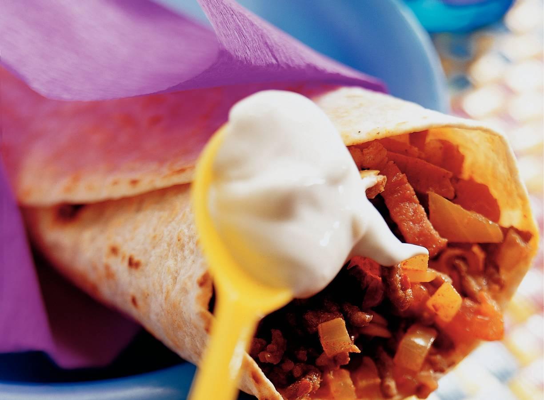 Burrito's gevuld met rundvlees