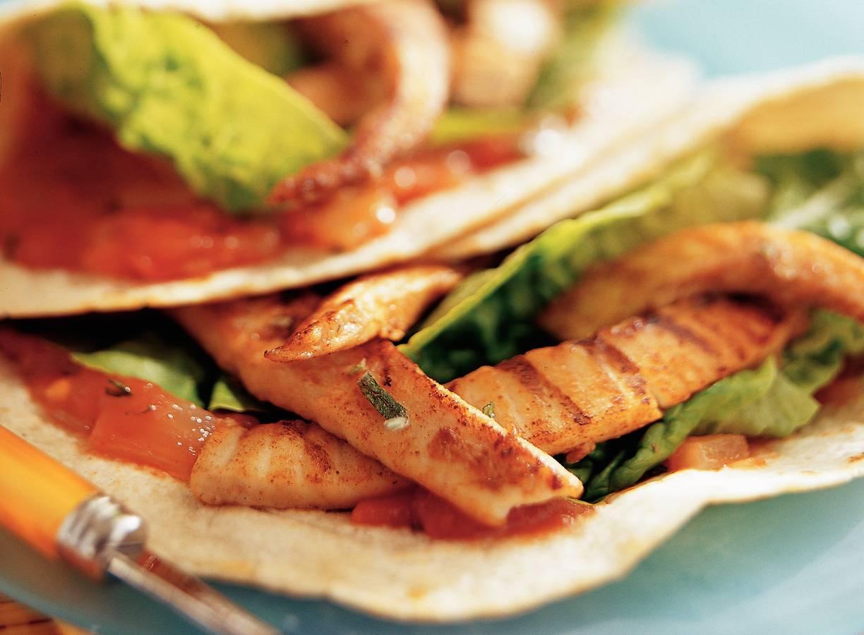 Taco's met geroosterde vis uit Yucatán