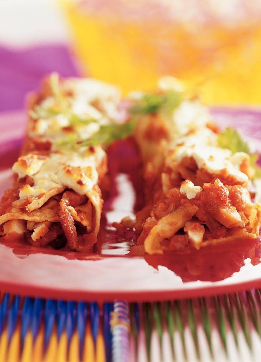 Enchilada's met gerookte kip