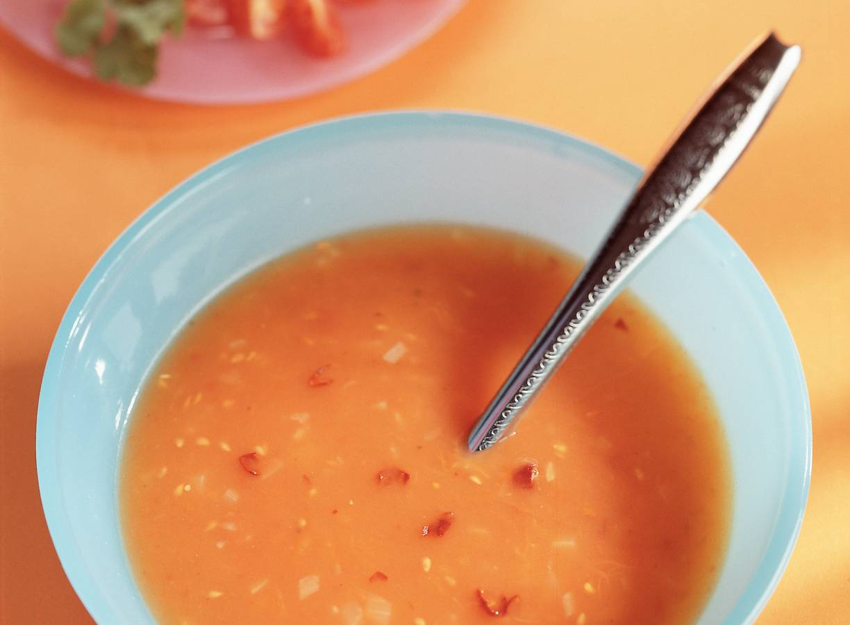 Tomaten-tortillasoep