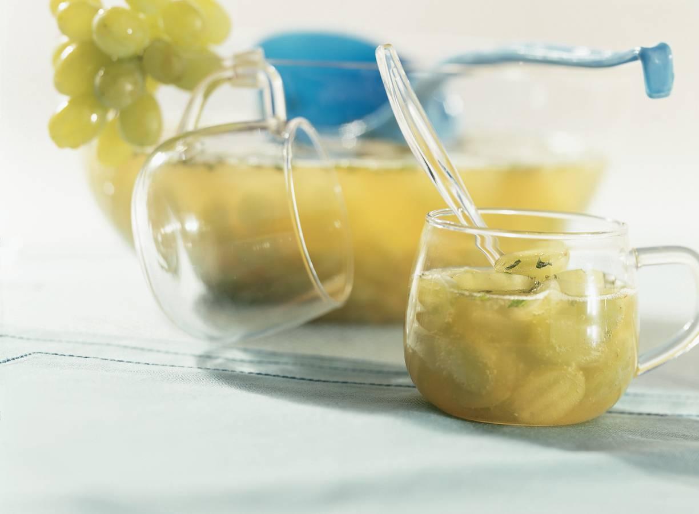 Sprankelende druivenbowl