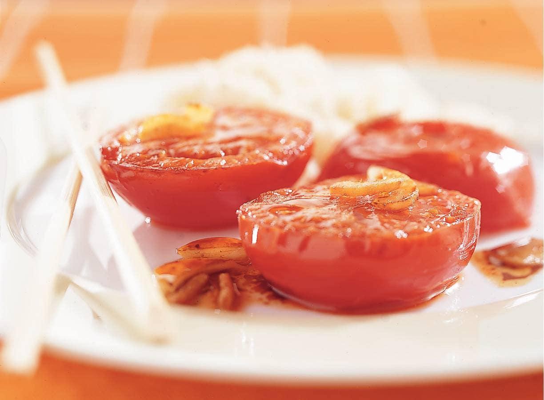 Gesmoorde tomaten met gember