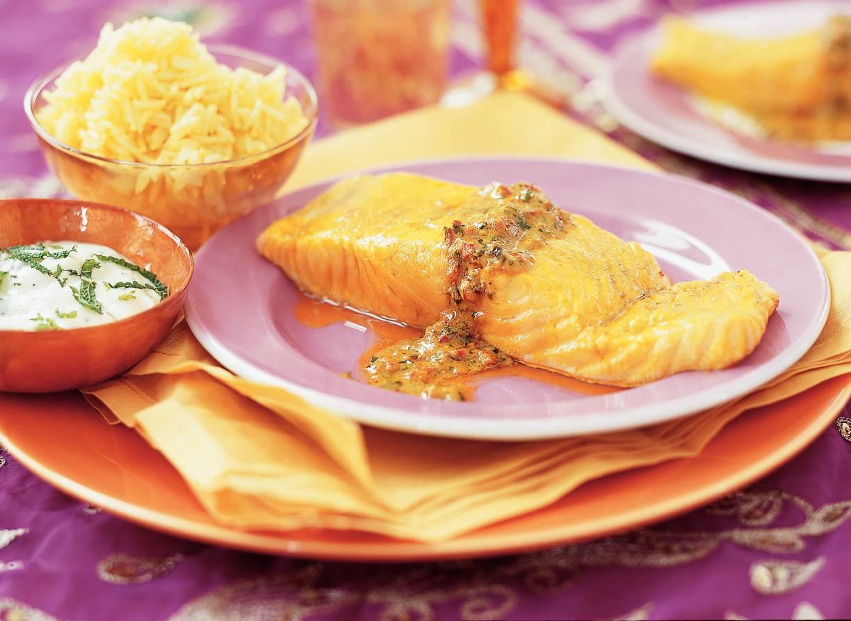 Geroosterde zalmfilet met mosterd