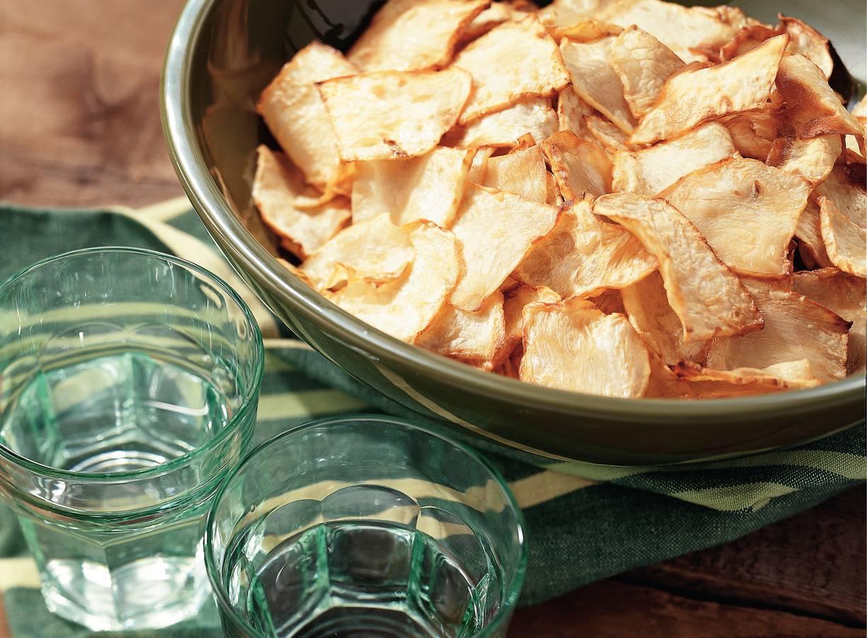 Chips van knolselderij