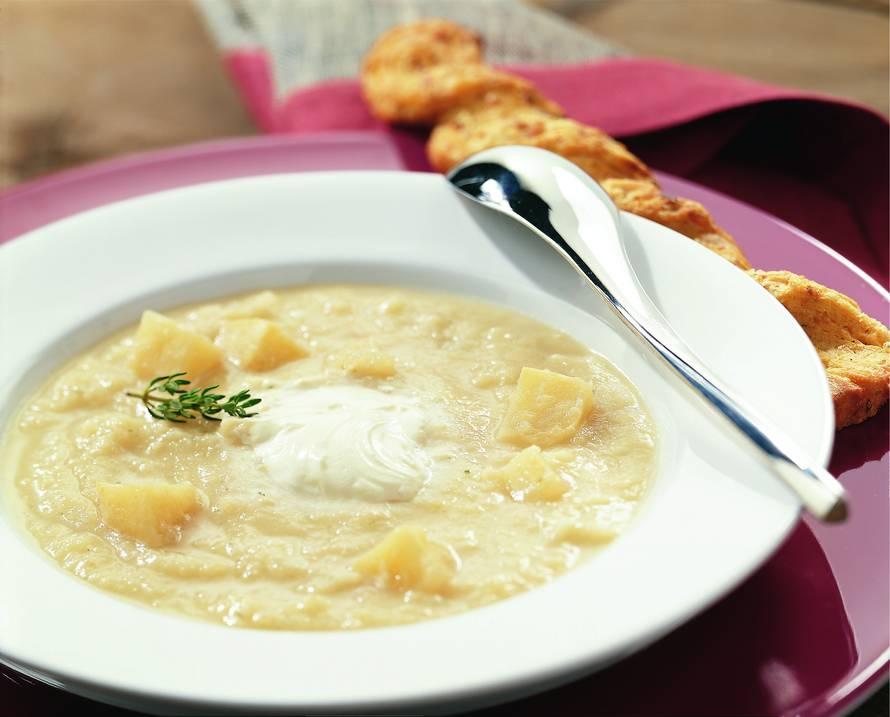 Knolselderij-crèmesoep