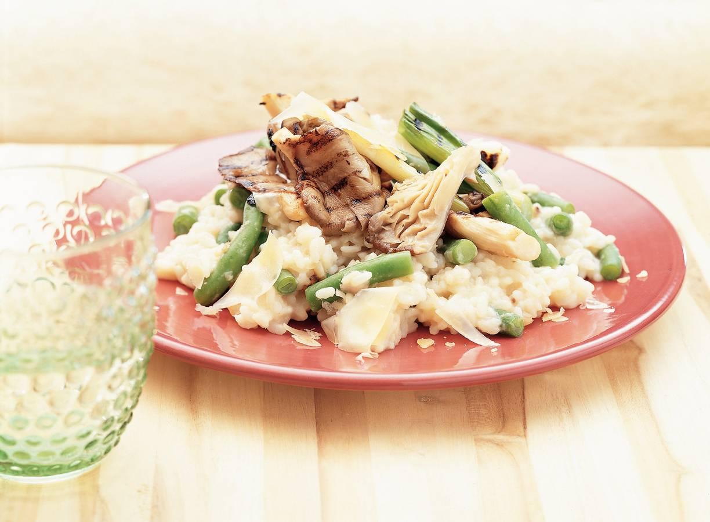 Gegrilde oesterzwammen met risotto