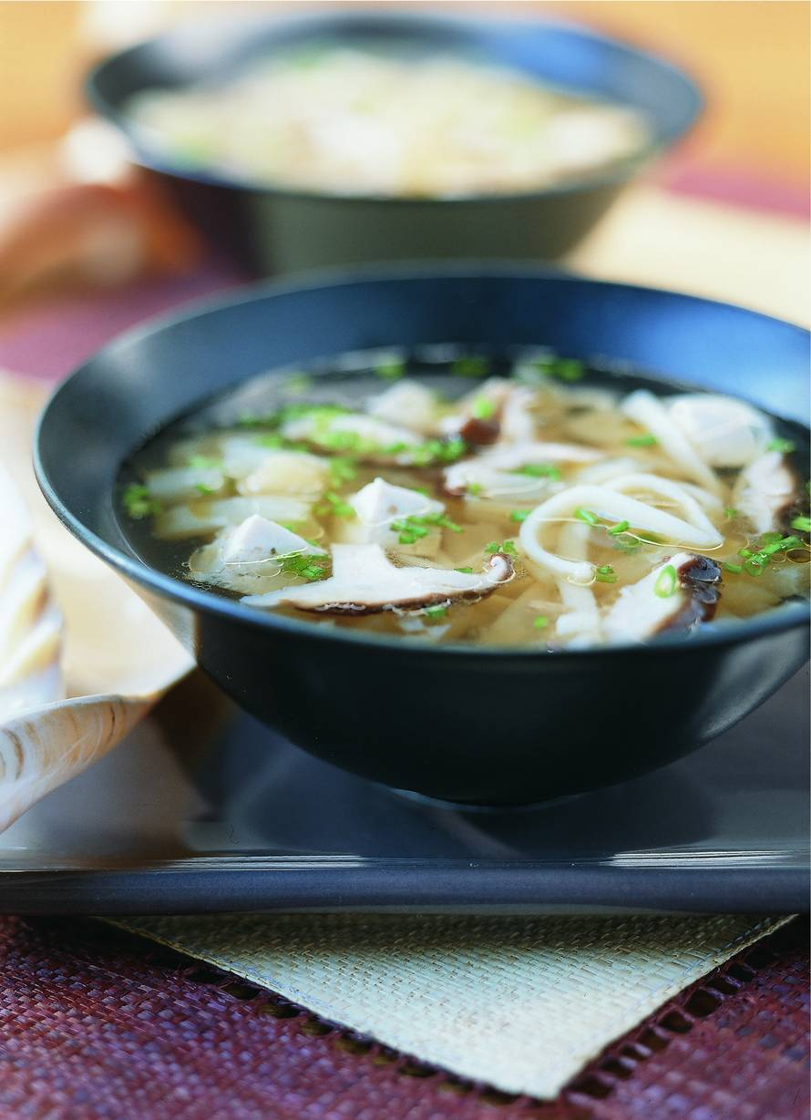 Uiensoep met tofu