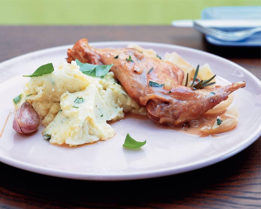 Aardappelpuree met gepofte knoflook