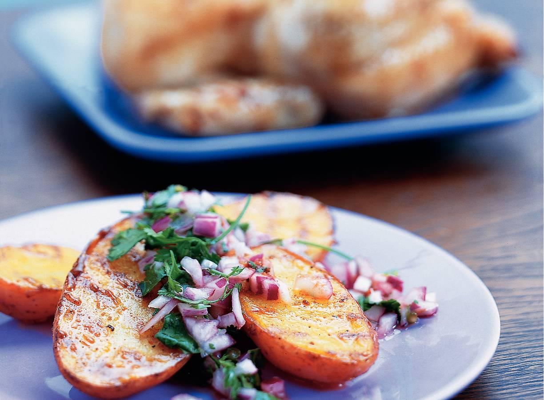Geroosterde aardappelen met koriandersalsa