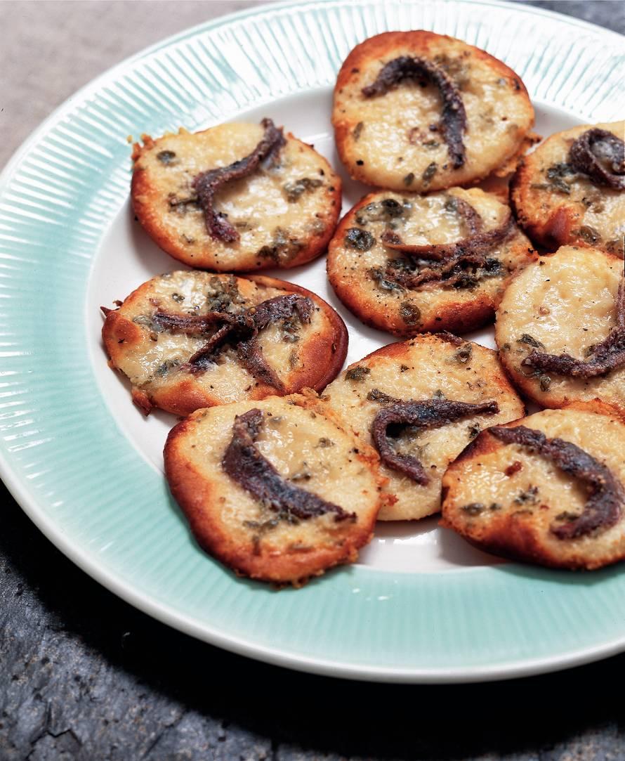 Minipizza's met roquefort