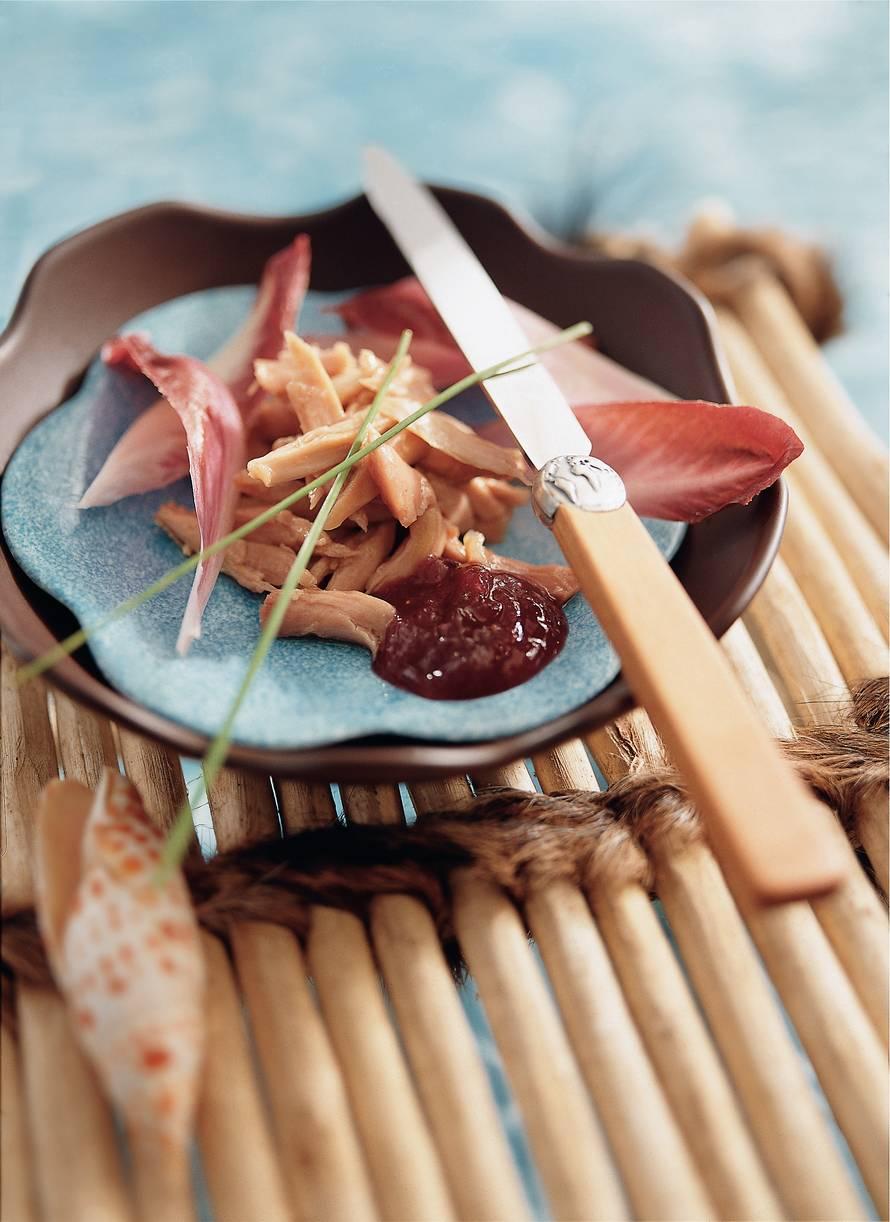Stew van konijn met cranberrycompote