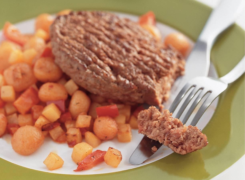 Steak du boeuf met kruidige groenten