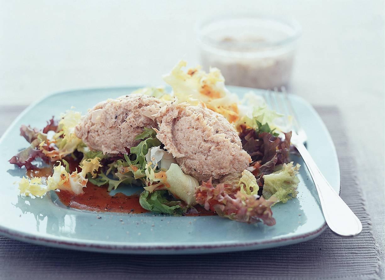Salade met makreelrillette