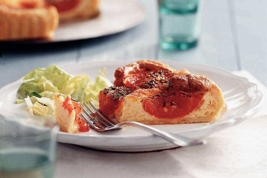 Kaasquiche met Provençaalse tomaten