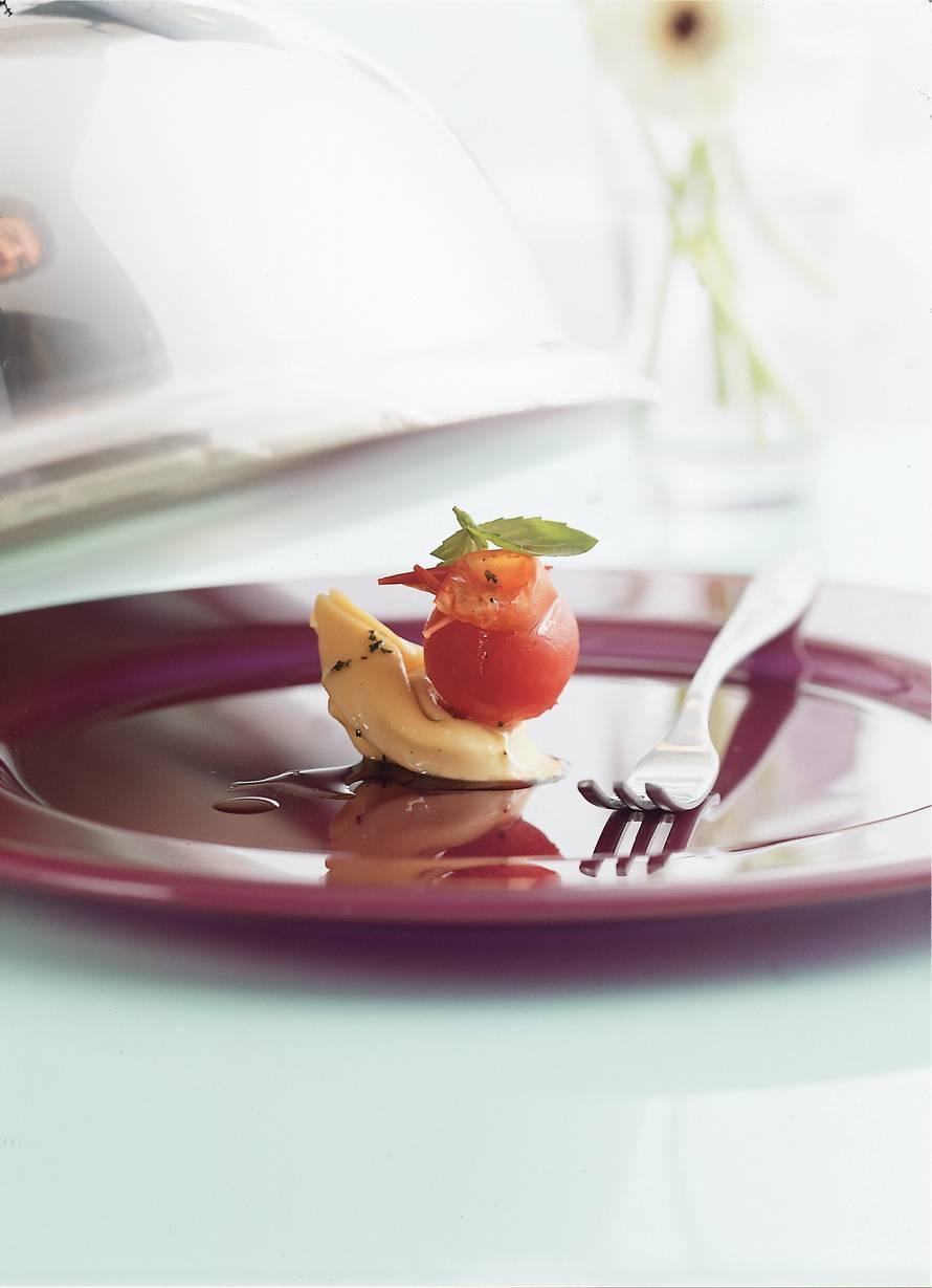 Tortelloni met basilicumolie