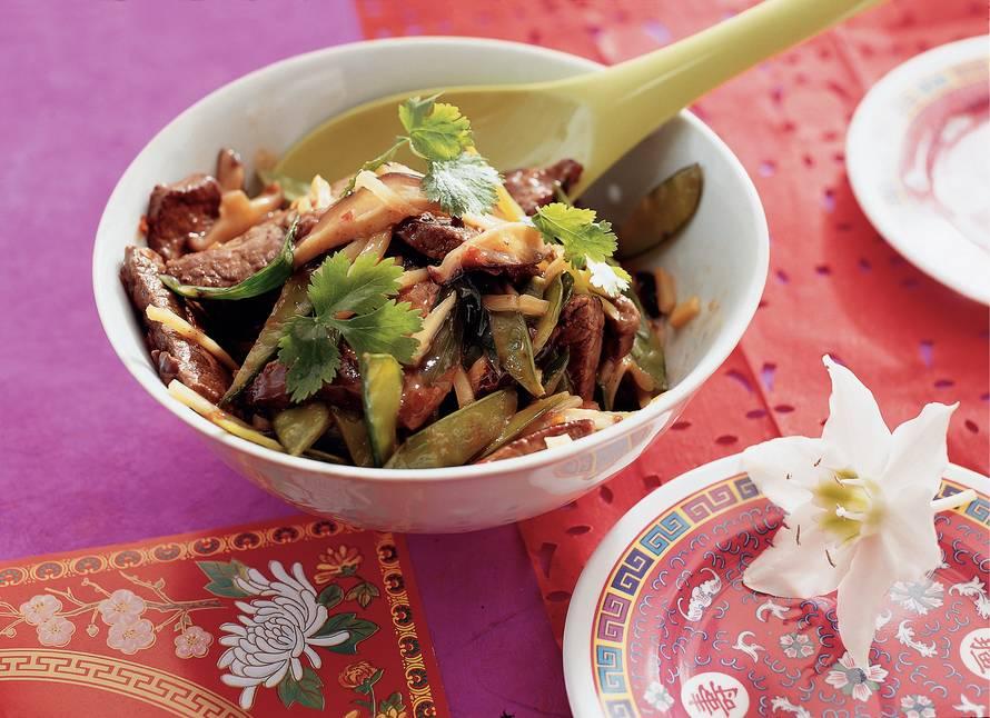 Gestoofd rundvlees met bamboespruiten
