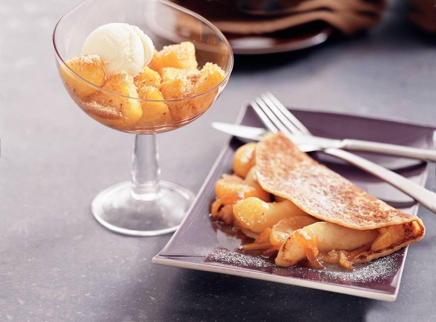Winterfruit pannenkoekjes