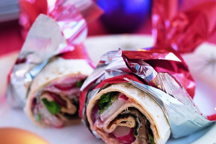 Wrap met gerookte ham en cranberryroom recept for Room wraps