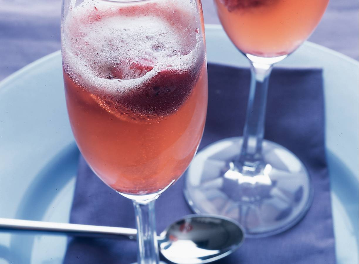 Kir Royal sorbet