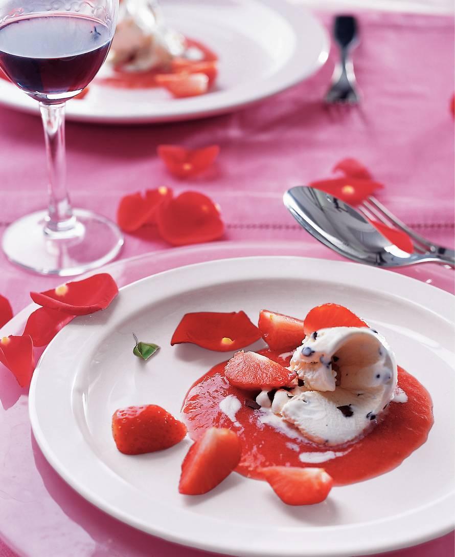 IJskrullen met aardbeien-portcoulis
