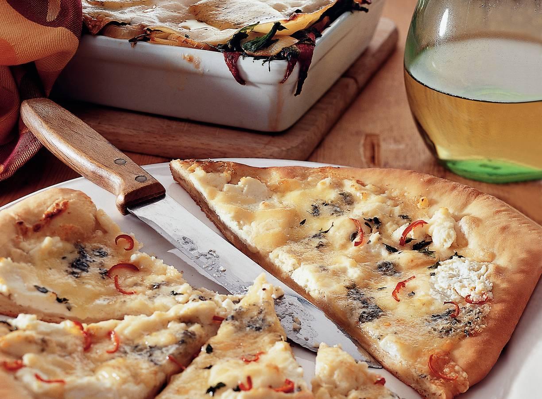 Pikante vierkazenpizza