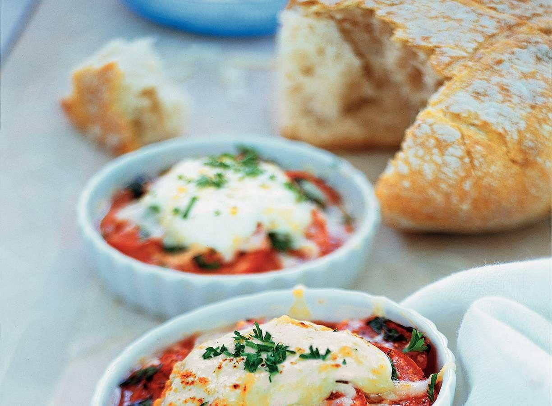 Romige tomatengratin