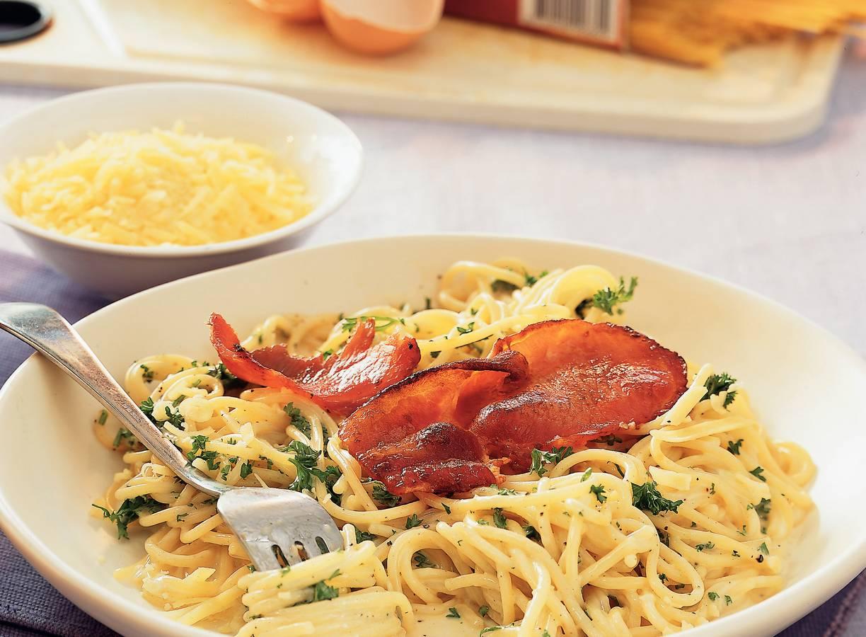 Hartige spaghetti carbonara