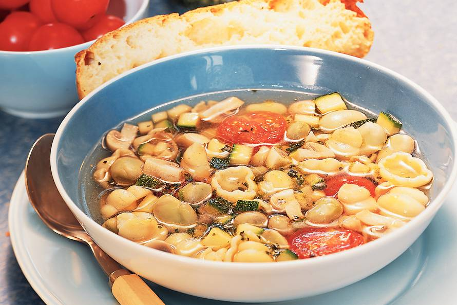 Zomerse minestronesoep