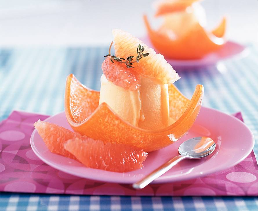 Grapefruit-tijmparfait
