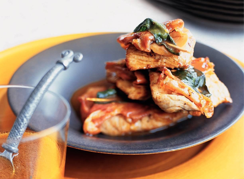 Kalfsschnitzels met parmaham