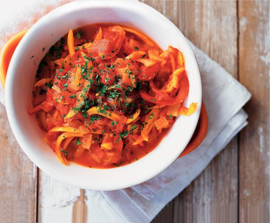 Peperonata (gestoofde paprika)