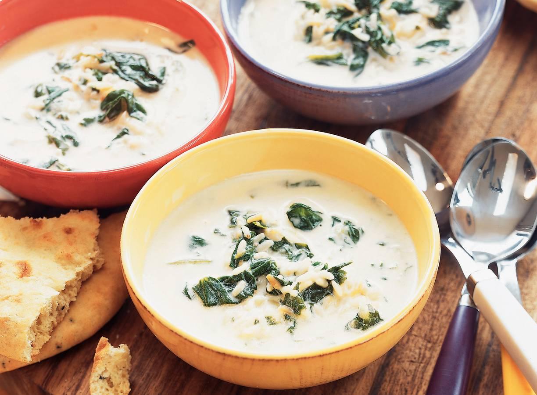 Yoghurt-spinaziesoep