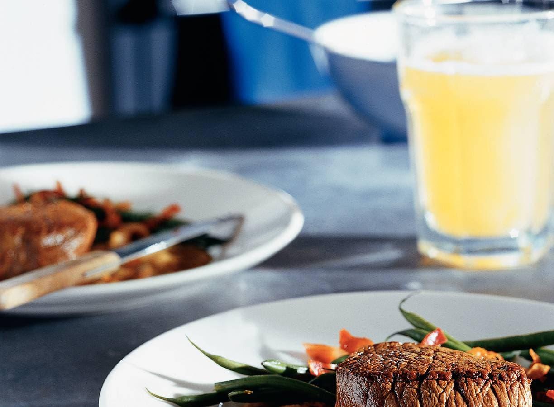Biefstuk met ajuinsaus