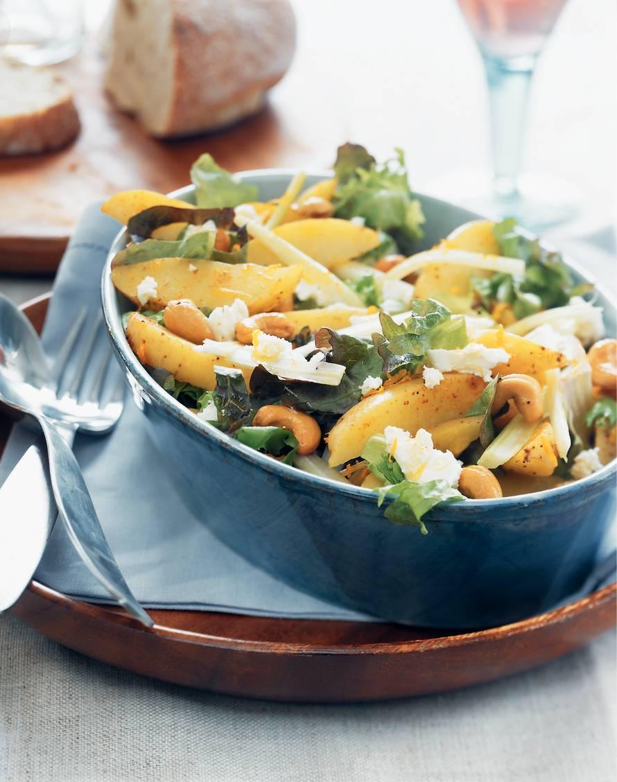 Aardappelsalade met cashewnoten