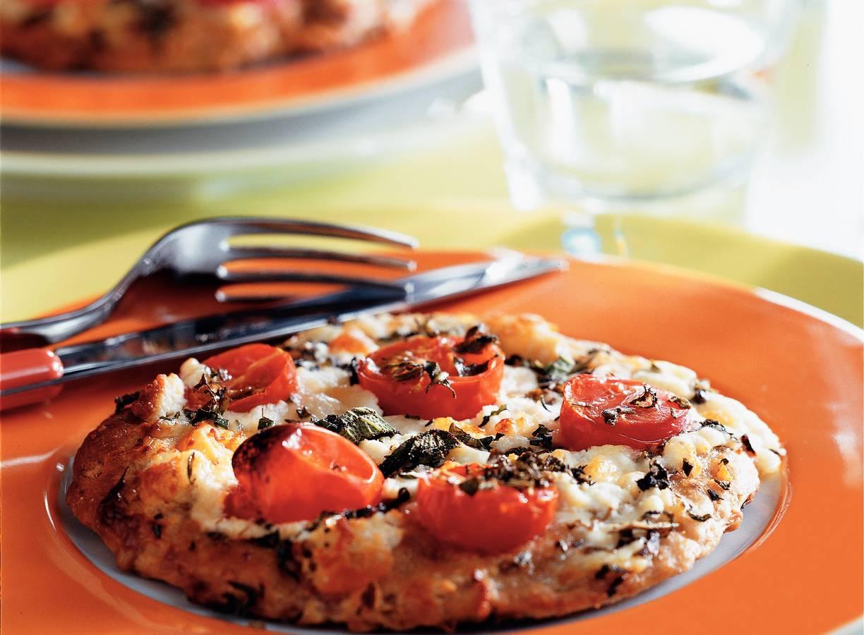 Minipizza's met geitenkaas