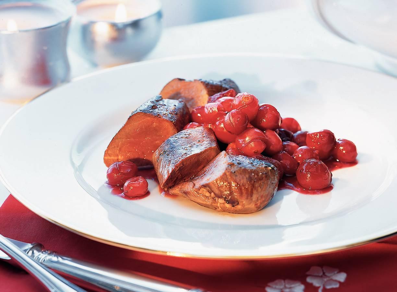 Hazenrugfilet met cranberrysaus