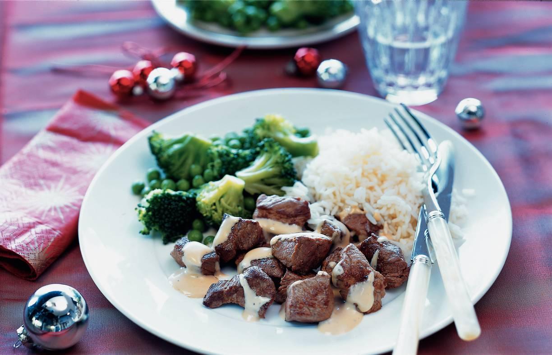 Biefstuk met pepersaus