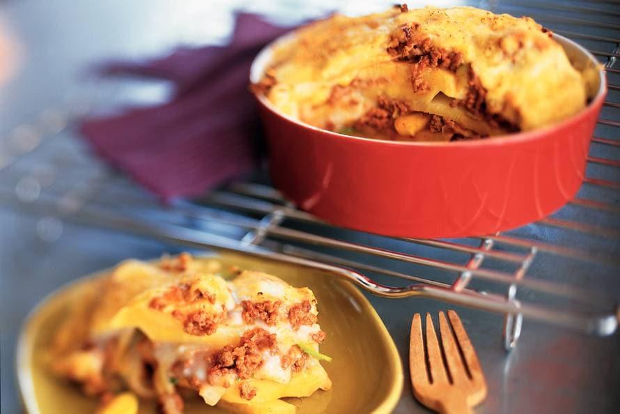 lasagne van koolraap en prei - recept - allerhande - albert heijn
