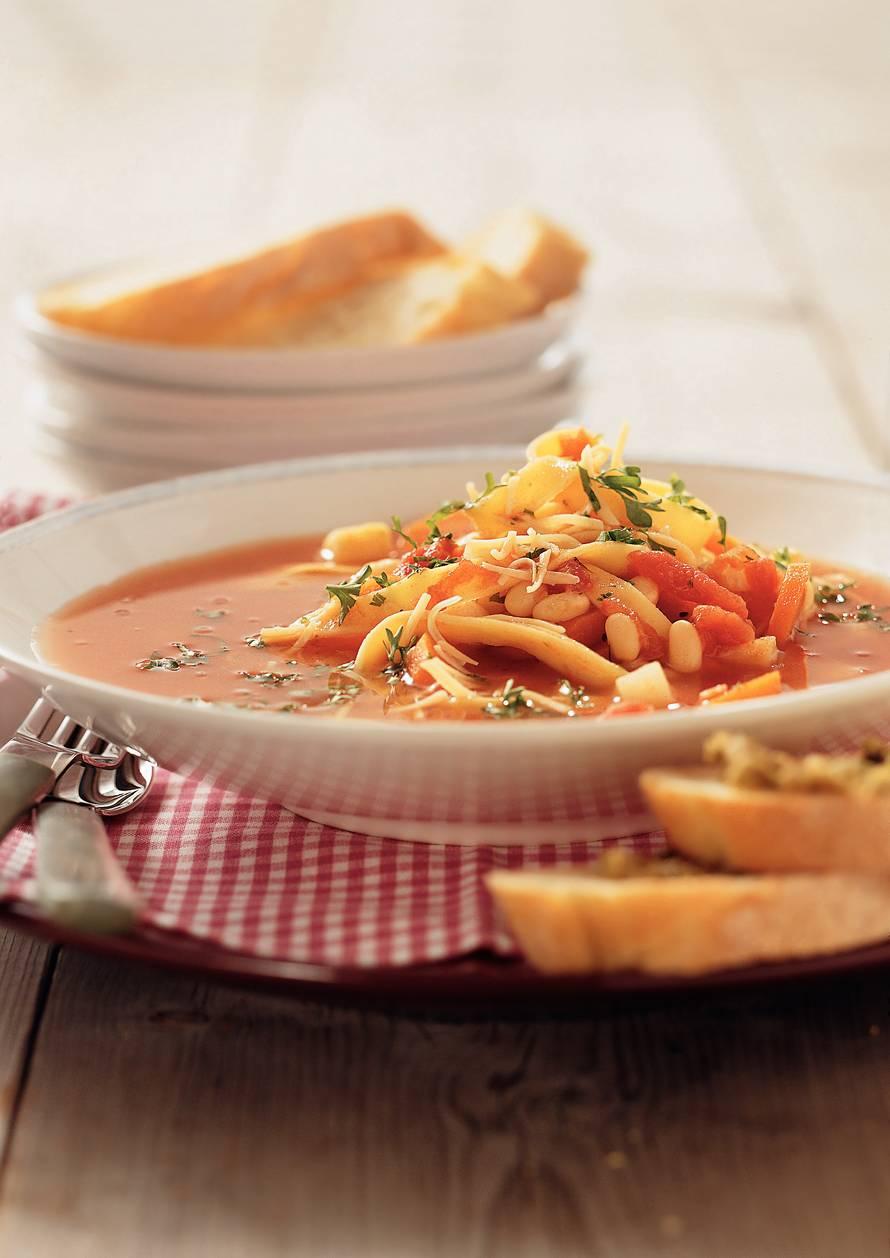 Witte-bonensoep met pasta