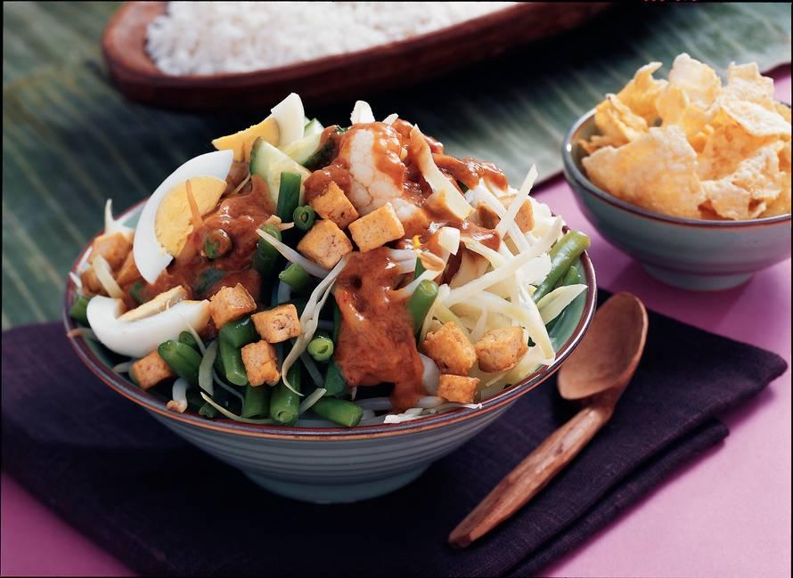 Gado-gado met tofu