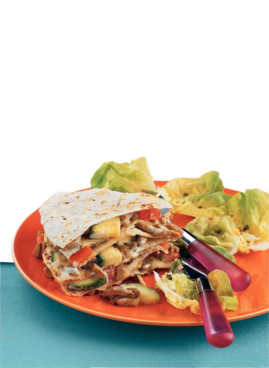 Shoarmataart met tortillawraps
