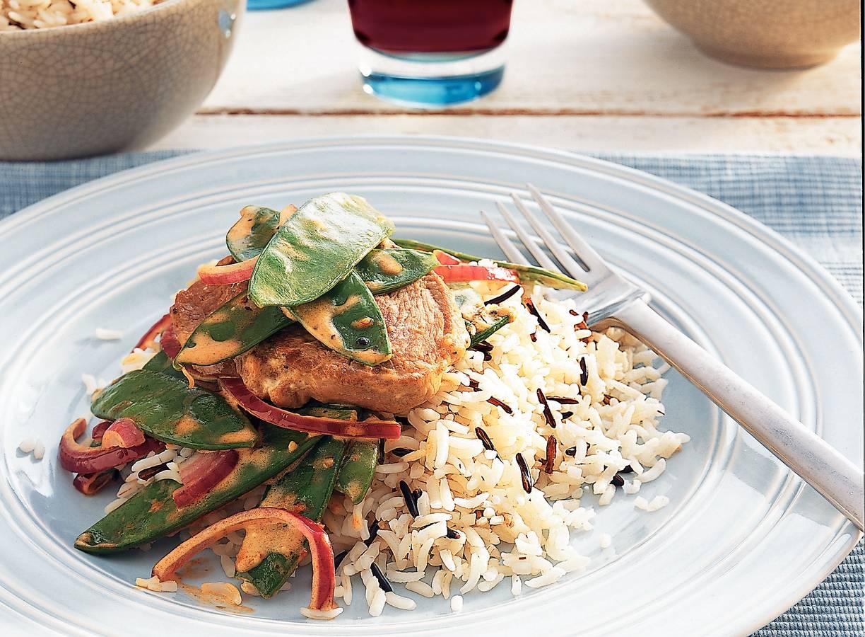 Roergebakken lamsvlees met rijst