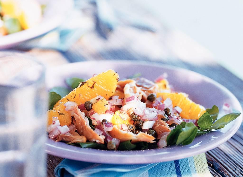 Makreelsalade met sinaasappel - Albert Heijn
