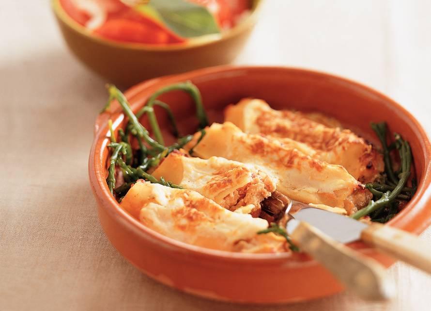 Cannelloni gevuld met zalm