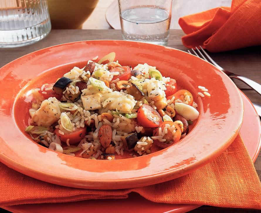 Provençaalse rijstschotel