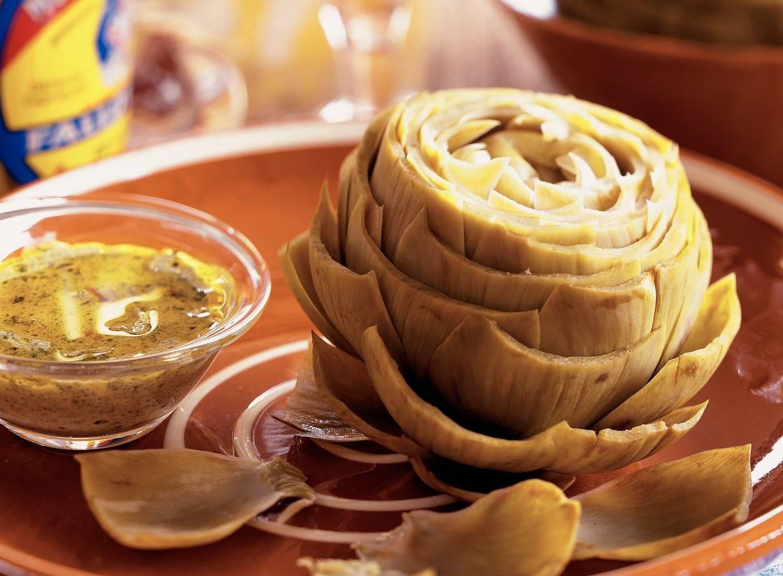 Artichauts vinaigrette - Artisjokken met vinaigrette