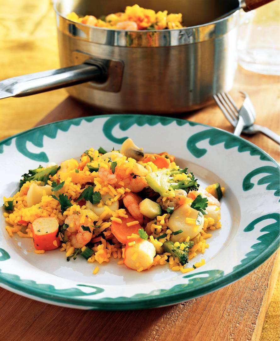 20-minuten paella met vis