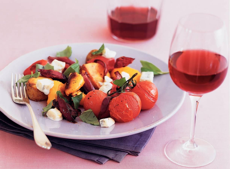 Geroosterde groenten met gorgonzola